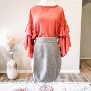 Theory Wool Tulip Skirt